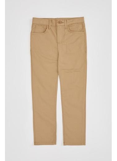 DeFacto Erkek Çocuk Regular Fit 5 Cepli Dokuma Pantolon Bej